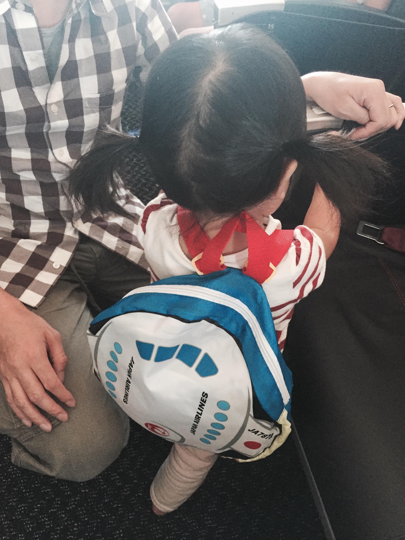 JAL便プレゼントのリュック
