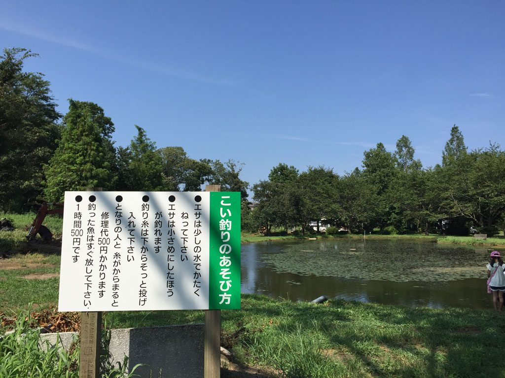 鯉の釣り堀