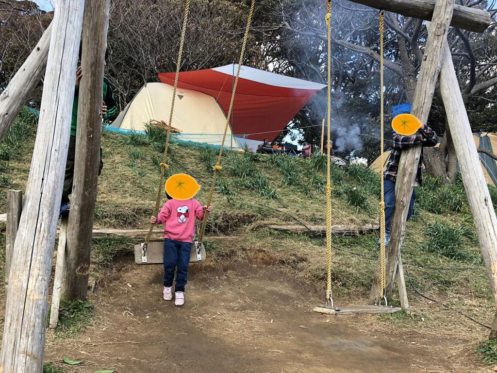 南房総オレンジ村オートキャンプ場 ブランコ